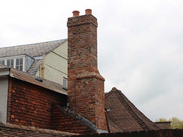 Georgian chimney build in Kent